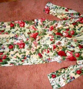 Новый махровых халат, длинный