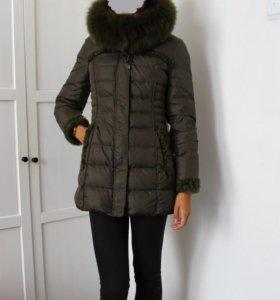 Пуховик натуральный с мехом зима