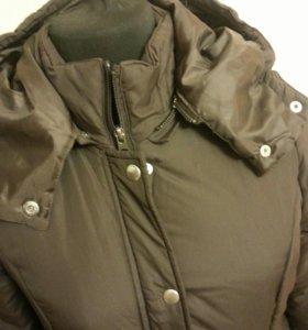 Куртка пальто теплое с капюшеном размер 42-44