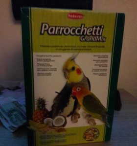 Корм Parrocchetti для средних попугаев