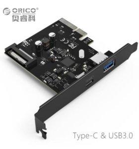 Контроллер PCI-E (x4) ORICO PA31-AC