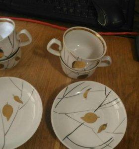 Чайная пара, чашка, селедочница