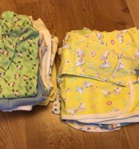 Одежда от рождения и до 6 месяцев