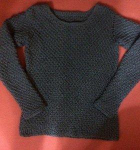 свитер серый ручной работы