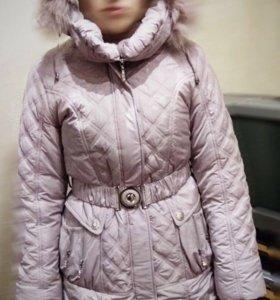 Зимняя куртка на девочку (новая) размер 164