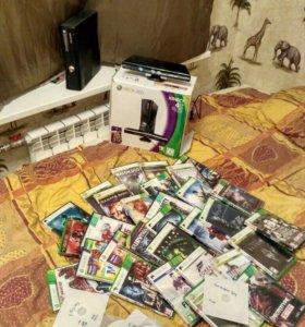 Microsoft Xbox 360 + Kinect + 2 геймпада + ИГРЫ