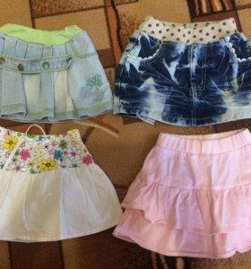 Юбки для девочки 2-4 года
