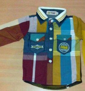 Рубашка детская цветная