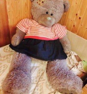 Огромный плюшевый мишка Тедди