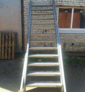 лестница нержавейка