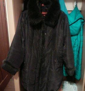 Куртка- пальто  зима р 54