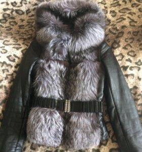Продам кожаную куртку-жилетку