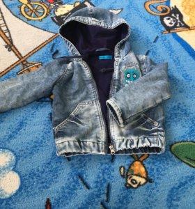 Джинсовая куртка с начесом