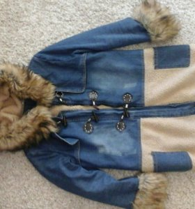 Утепленная джинсовая куртка