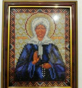 Икона Матронушки Московской (бисер)