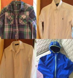 Вещи на мальчика 8-10 лет рубашки, костюм, джинсы