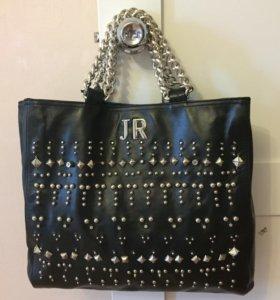 Итальянская новая кожаная сумка.LUX