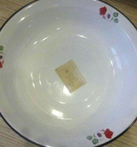 Эмалированная тарелка.новая