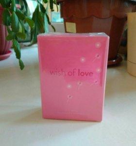 Туалетная вода Wish of love, 50 мл