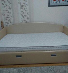 Кровать-софа с ортопедическим матрасом
