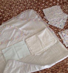Одеяльце на выписку и пеленки
