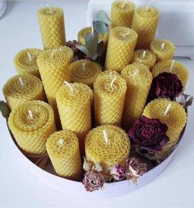 Медовые свечи ручной работы