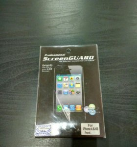 Защитная плёнка для iPhone 4/4s (глянцевая)