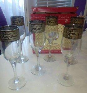 Бокалы для вина,шампанского Новые