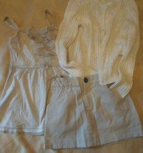Одежда для девочек 3 вещи Benetton