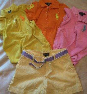 Поло и шорты Ralph lauren 8-10 лет, 4 вещи