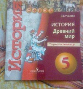Тетрадь-экзаменатор по истории за 5 класс(новая)