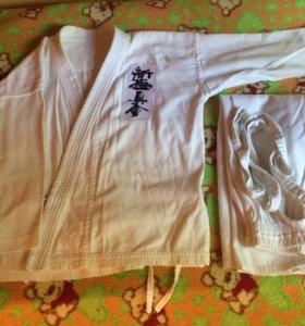 Кимоно для карате, рост 140 см
