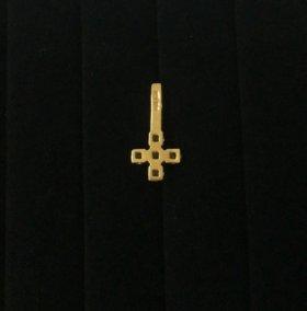 Золотой крестик 1,07 гр 585 пр