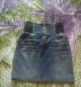 Юбка джинсовая р.44