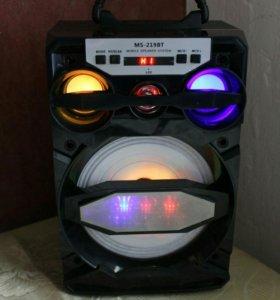 Колонка MS-219BT Bluetooth 15W чёрная