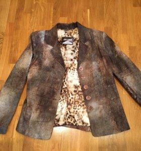 Пиджак кожа