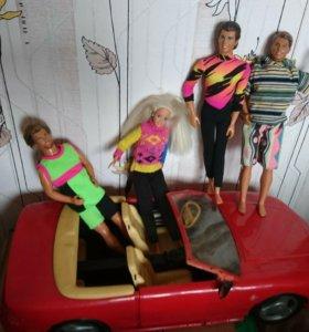 Барби куклы и машинка феррари
