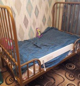 IKEA Раздвижная детская кровать+матрас