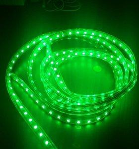 Светодиодная лента 3 метра(Зелёная)