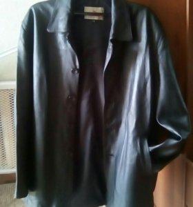 Мужская куртка,нат.кожа,цвет черный.Размер 48-52.