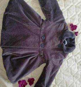 Пальто велюр, размер 92-98
