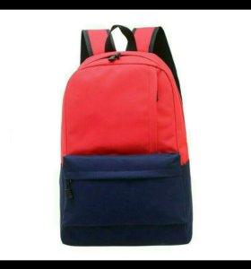 Новый рюкзак красно-синий