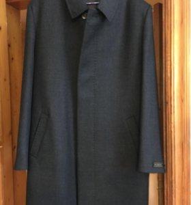 Пальто кашемир цвет графит Италия р.52