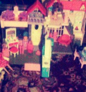 Игрушечный домик для девочки,кубики в подарок