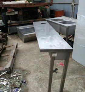 Стол для сбора отходов 1800*400