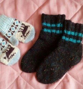 Варежки и носочки теплые
