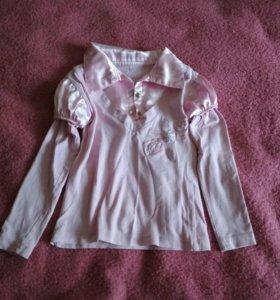 Розовая блузка в школу