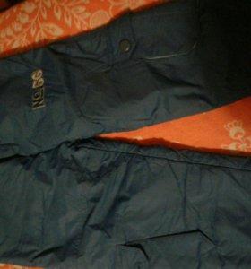 Тёплые брюки не промокайка 4-5 лет