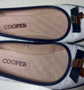 Кожаные туфли р.38,5