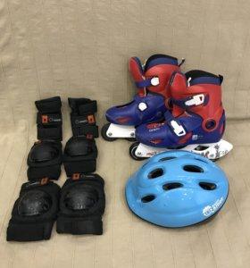 Ролики 34-36 + защита + шлем